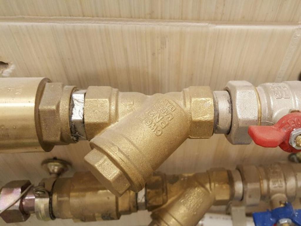 Замена фильтра грубой очистки (ДУ15-20) (2 шт.)